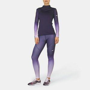 Nike hyperwarm purple ombré tights